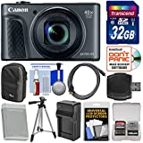 Canon PowerShot SX730 HS Wi-Fi Digital Camera (Black) with 32GB Card + Case + Battery & Charger + Tripod + Kit