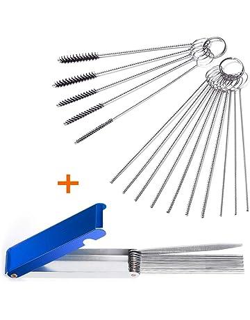 Fiada Carburetor Carbon Dirt Cleaner Tool Kit Includes 15 Pieces Nylon Tube Brush Pipe Tube Cleaner Bottle Cleaning Brushes and 10 Pieces Cleaning Needles
