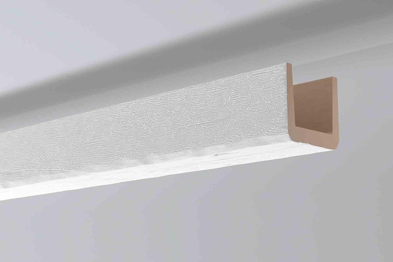 Vigas imitación madera color blanco Noma Beam 15 x 15 x 2m: Amazon.es: Bricolaje y herramientas