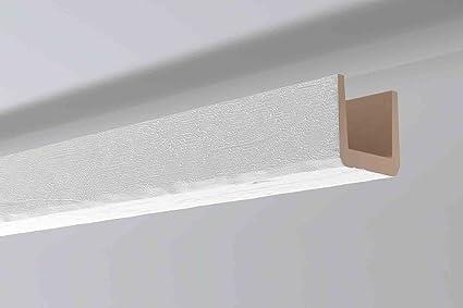 Vigas imitación madera color blanco Noma Beam 15 x 15 x 2m