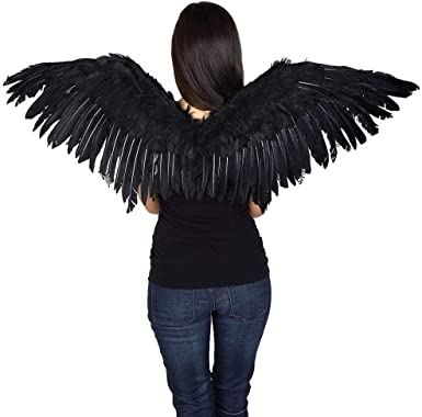Kid Adult Angel Wings Dress Fairy Feather Outfit Large Party Hen Halloween RE
