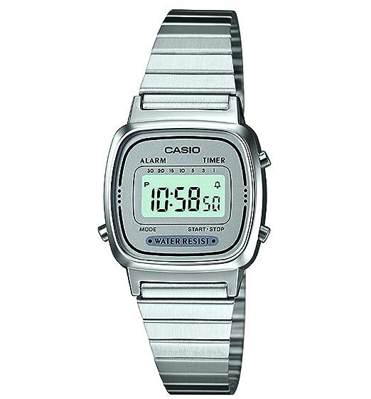 Casio LA670WEA-7EF - Reloj Color Plateado