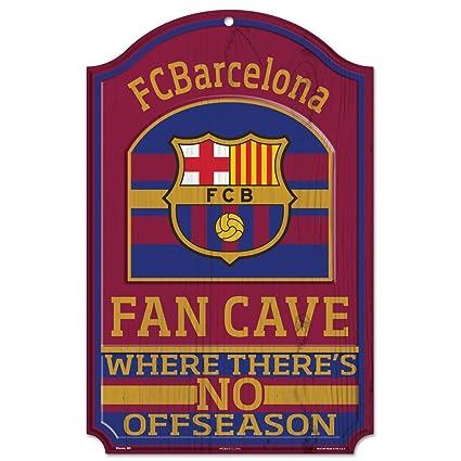 Amazon.com: Barcelona FC Soccer Fan Cave de madera signo 11 ...