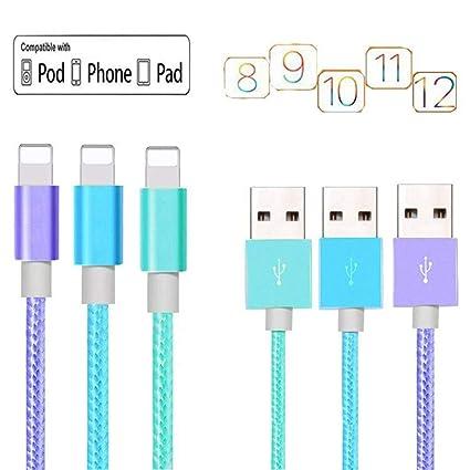 Amazon.com: YoRouci - Cable de carga para teléfono móvil (3 ...
