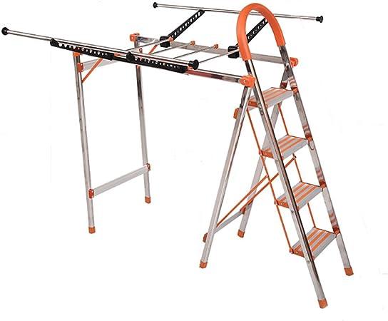 LIZILYJ Tendedero, de Acero Inoxidable Plegable en el Suelo, Escalera de usos múltiples, Naranja, suspensión hogareña móvil en ángulo Recto del ala Interior de la casa (Tamaño : Wing Shape): Amazon.es: Hogar