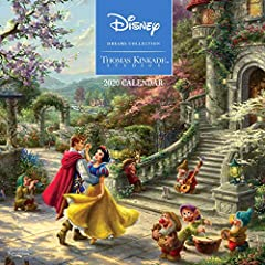 Disney Dreams Collection by Thomas Kinkade Studios 2020 Wall Calendar features iconic Disney movie moments delightfully illustrated by Thomas Kinkade Studios.Each monthly spread of this calendar features a full-color image, such as Sleeping B...