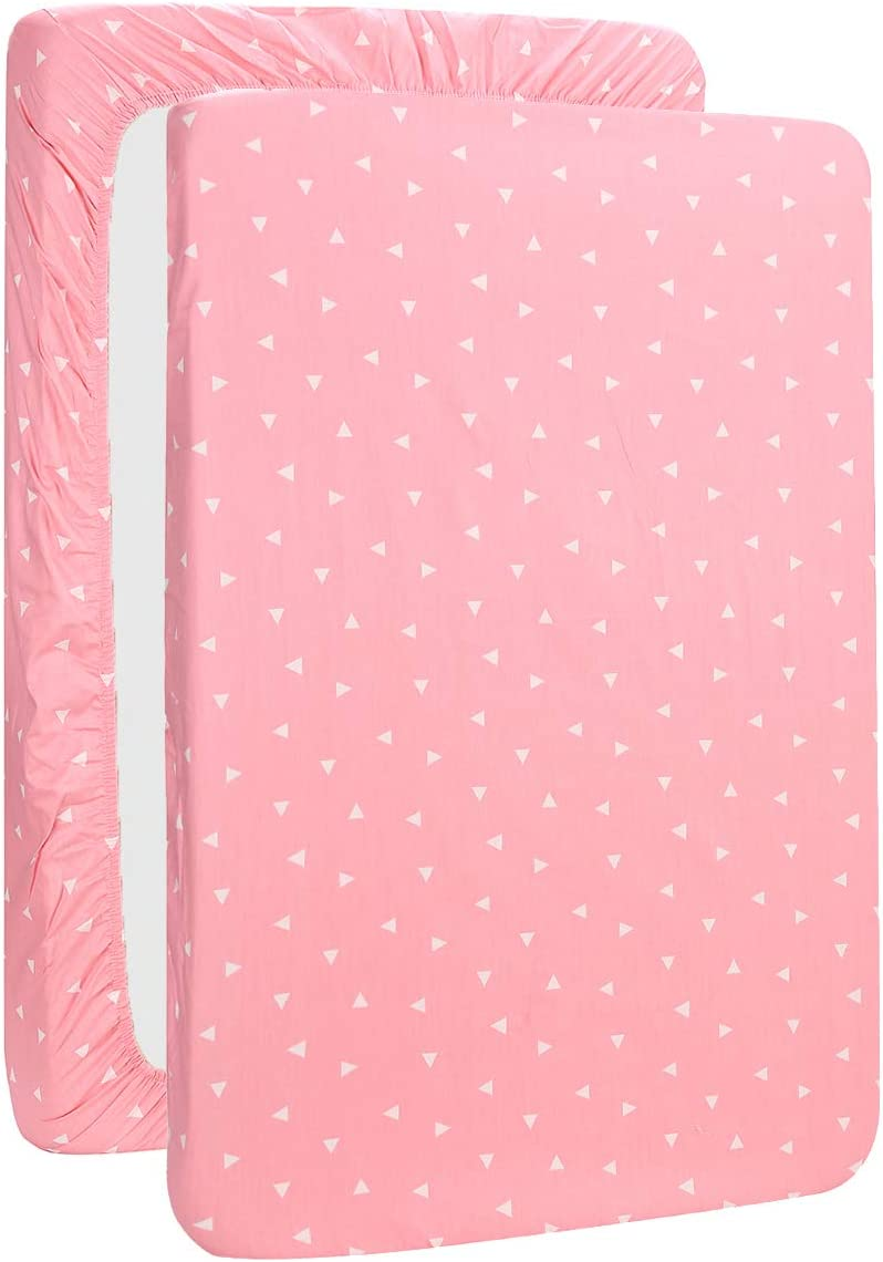 UOMNY Changing Pad Cover 100/% Natural Cotton Soft Mini Crib Sheets for Boys and Girls 1 Pack 32/×16 Unisex Change Pad Sheets Pink Leopard