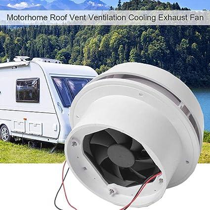 12V RV Motorhome Roof Vent Ventilation LED Ceiling Exhaust Fan 60CFM