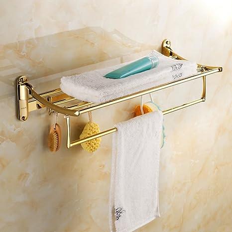 Accesorios baño oro europeo/desorbitarte de toallas/estantería/El cuarto de baño baño