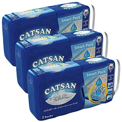CATSAN Smart Pack – Nichtklumpende Katzenstreu auf saugfähigem Vlies – 2 x 4 Liter
