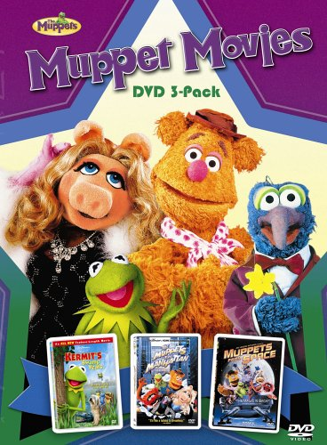 Muppet Movies DVD 3-Pack - (Kermit's Swamp Years / The Muppets Take Manhattan / Muppets From Space) (Muppets Dvd Box Set)