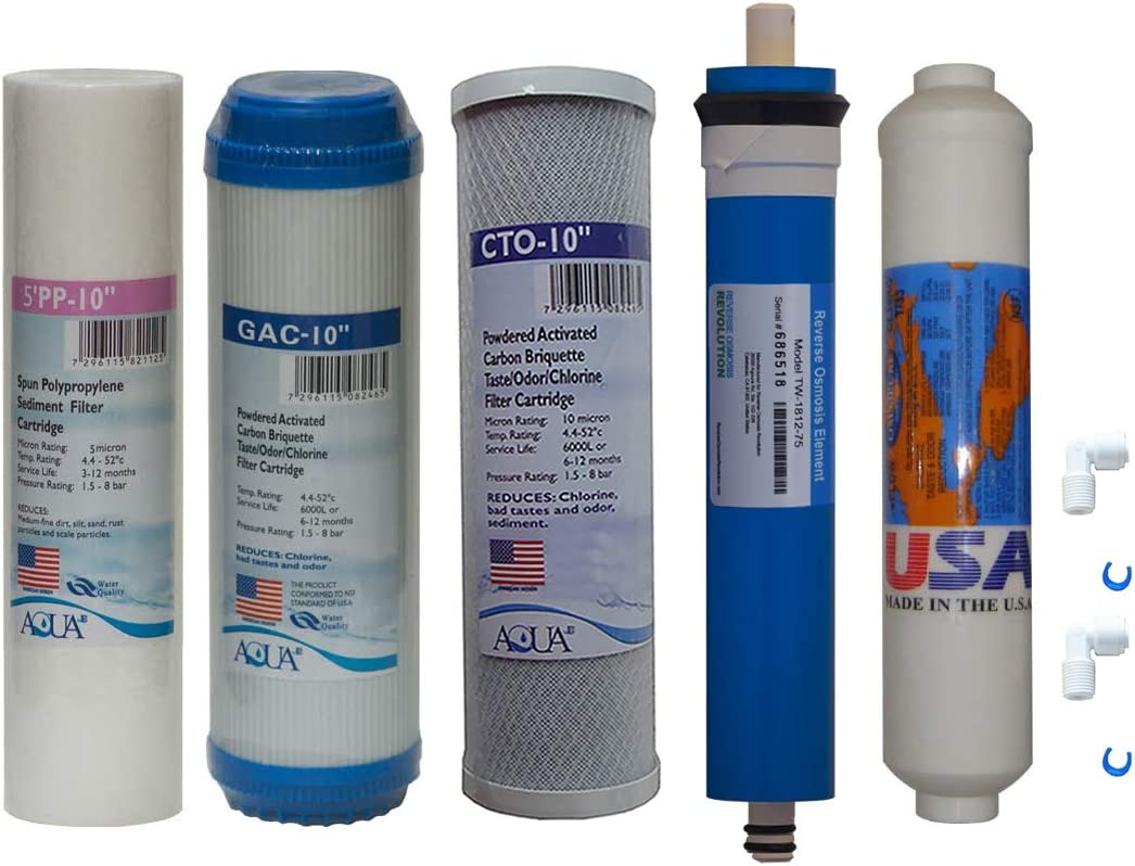 15 PCS REVERSE OSMOSIS RO REPLACEMENT WATER FILTER//MEMBRANE 75 GPD MEMBRANE