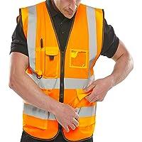 Islander Fashions Erwachsene High Visibility Weste Herren Sport Arbeitskleidung Sicherheit Reflektierende Weste M / 5XL
