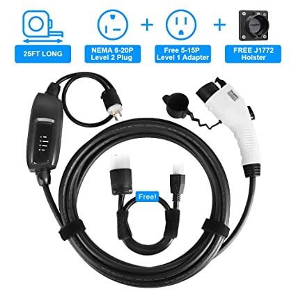 Amazoncom Bougerv Level 2 Ev Charger Cable 240v 16a 25ft