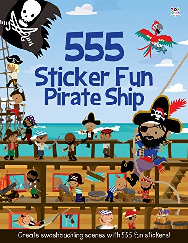 555 Sticker Fun Pirate Ship (Pirate Activity Ship Sticker)