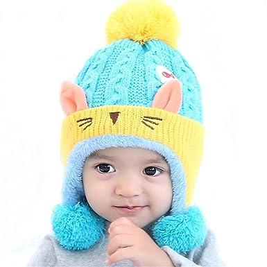 Baby Mützen Mütze Mädchen Caps Kindermützen Wintermütze Häkeln