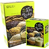 DAMTUH 15 Roasted Grains Mixed Powder Breafast Drink 40pcs+12Pcs, KOREAN Misugaru, Meal Replacement