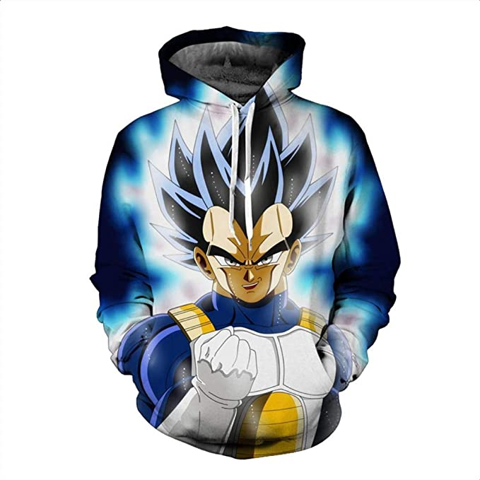 Amazon.com: HOOSHIRT Men 3D Hoodie Sweatshirt Dragon Ball Hoodies Hooded Coat Naruto Super Saiyan Blue egeta Printed Cartoon Sudaderas Hombre,2,4XL: Sports ...
