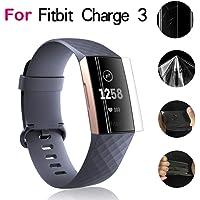 Kacowpper ¡ Accesorio para la Venta Caliente de la Navidad de Fitbit Charge3 1Pcs Transparente película de protección de Pantalla para Fitbit Carga 3