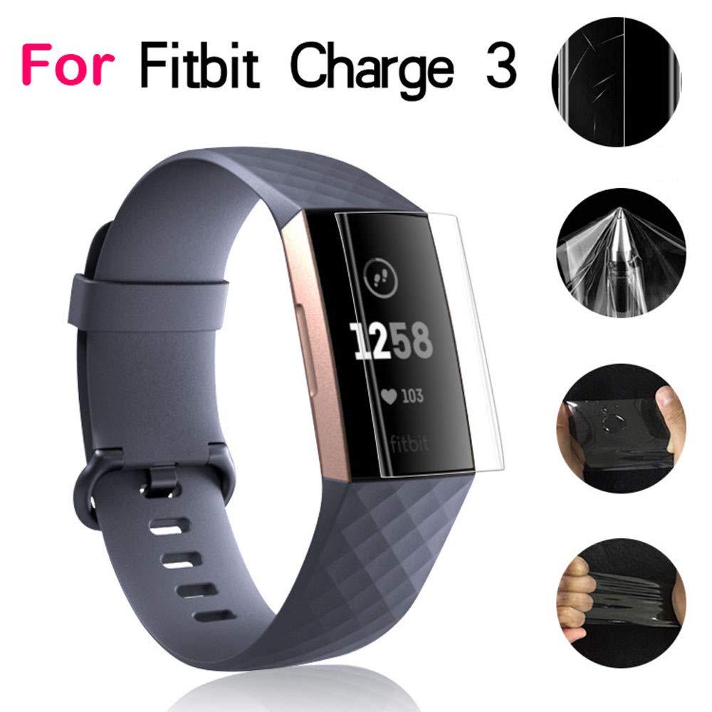 pour Fitbit Charge 3,Cooljun 1/2/3/5 PCS 9H Film de Protection décran Full Cover HD TPU Anti-déflagrant