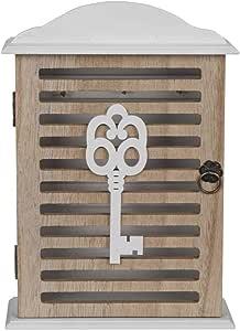 OOTB Caja Blanca de Madera para Llaves, Aprox. 27,5 x 19 cm, 28·19·6cm, Blanco