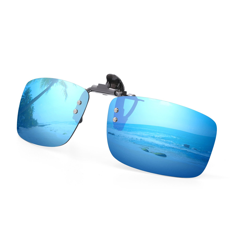 1d301fbc1e7 Besgoods Polarized Clip-on Flip up Metal Clip Sunglasses Lenses ...