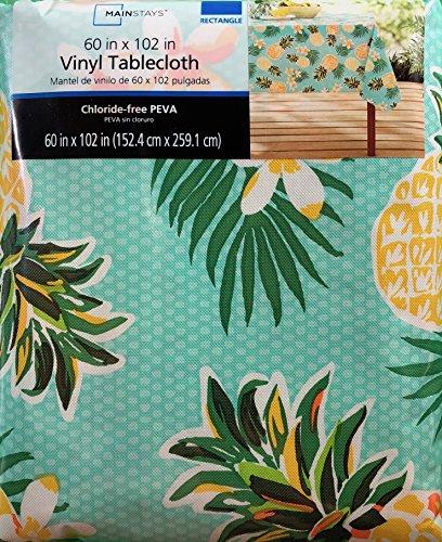 Summer Pineapple Pattern Rectangular Vinyl Tablecloth