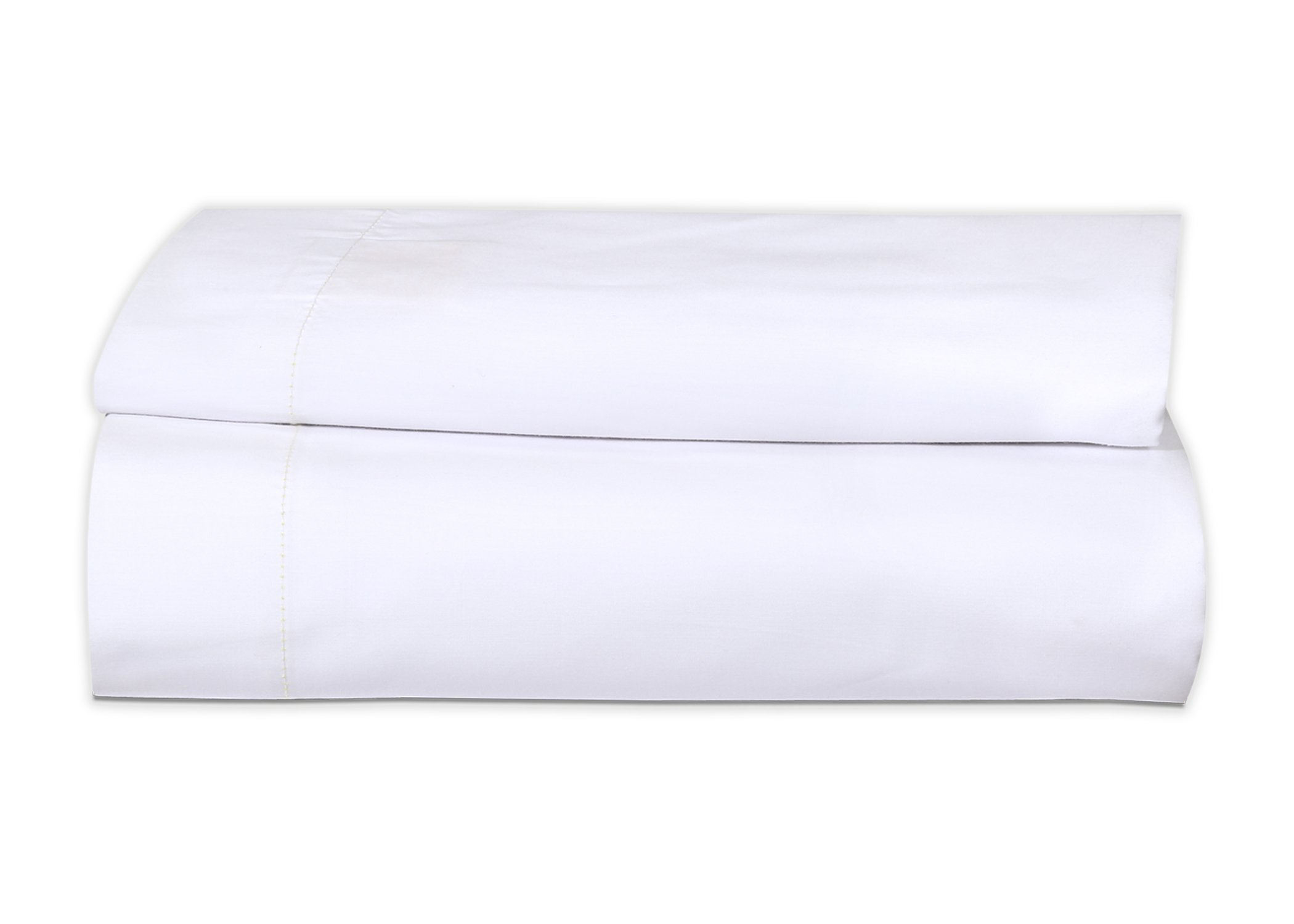Gold Textiles 2 Pack Queen Flat Sheet (90''x110'') Bright White T-200 Percale Hotel Linen Breathable,Soft and Comfortable - Wrinkle, Fade Stain Resistant (2, Queen)