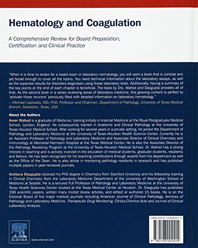 Hematology and Coagulation: A Comprehensive Review for Board Preparation, Certification and Clinical Practice