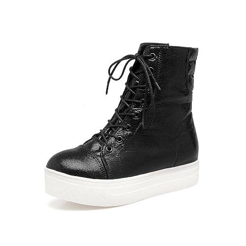 Botines Planos con tacón Plano y Mujer Martin Boots: Amazon.es: Zapatos y complementos
