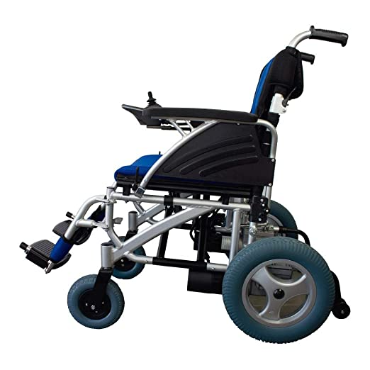 Queraltó Silla de Ruedas eléctrica de Aluminio | Plegable | Color Azul y Negra | Mod. Lyra | Mobiclinic: Amazon.es: Hogar