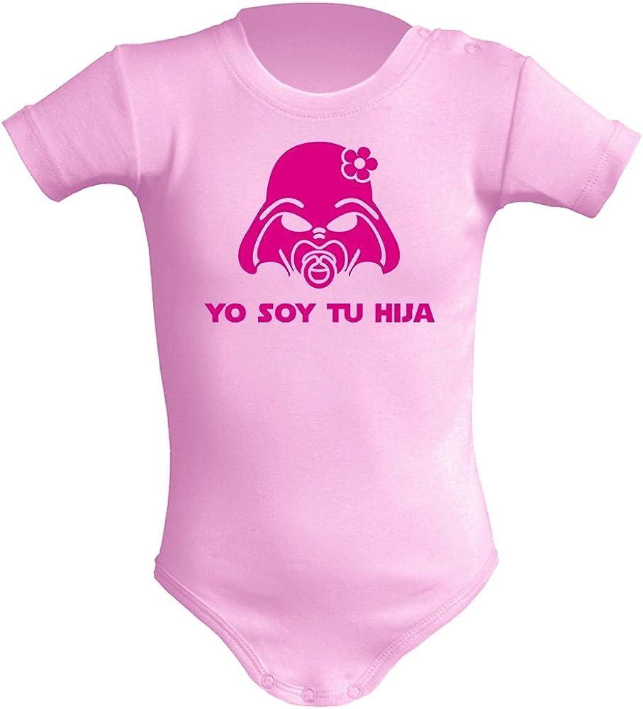 Body bebé unisex Yo soy tu hija. Parodia Yo soy tu padre. Regalo original. Body friki. Manga corta.
