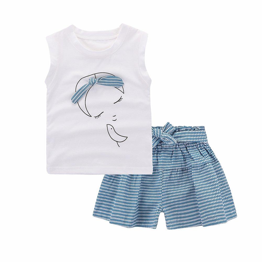 Motecity Girls Shorts Set Little Girls