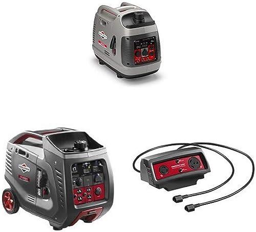 Briggs Stratton 2200-Watt Inverter Generator, 3000-Watt Inverter Generator, and Parallel Cable Connector Kit