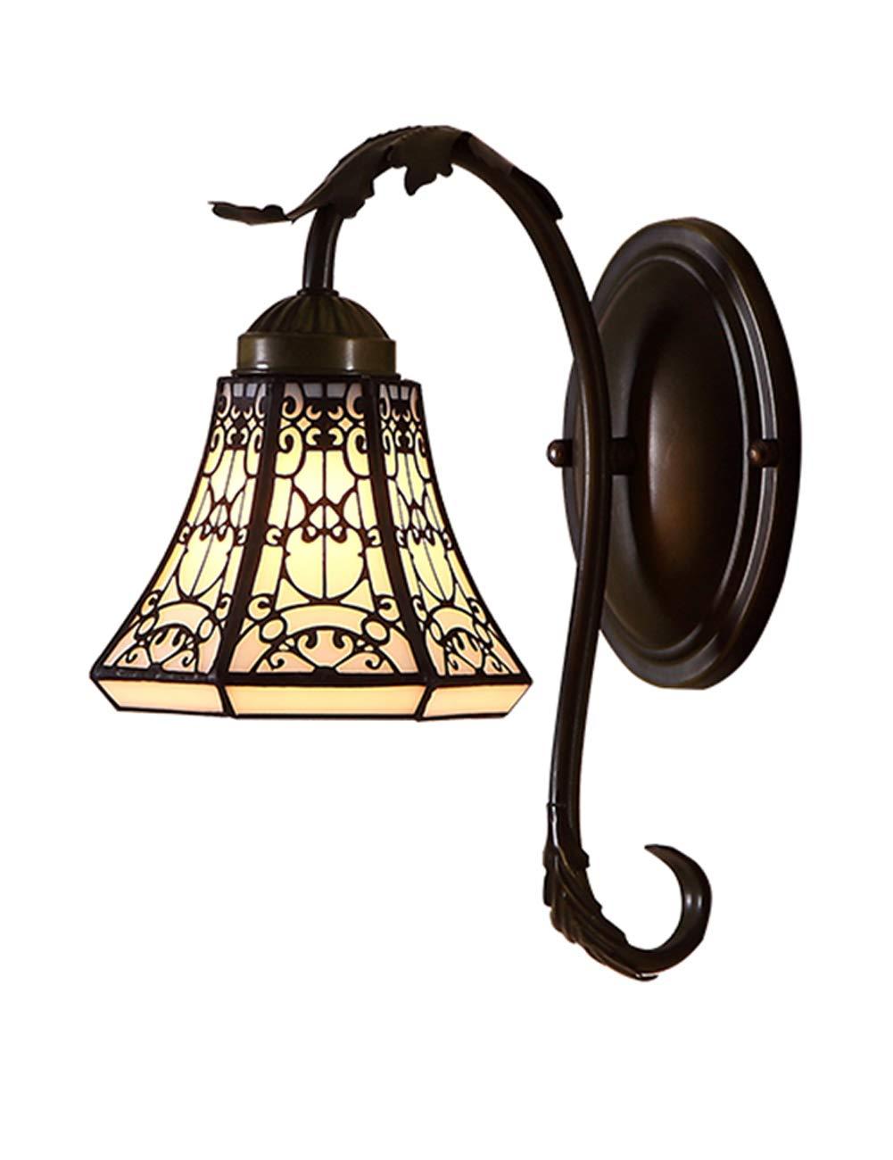 DLyng 自然光を保護する寝室のための小さな壁ランプブラックベースのヴィンテージパターン B07KWY7XNY