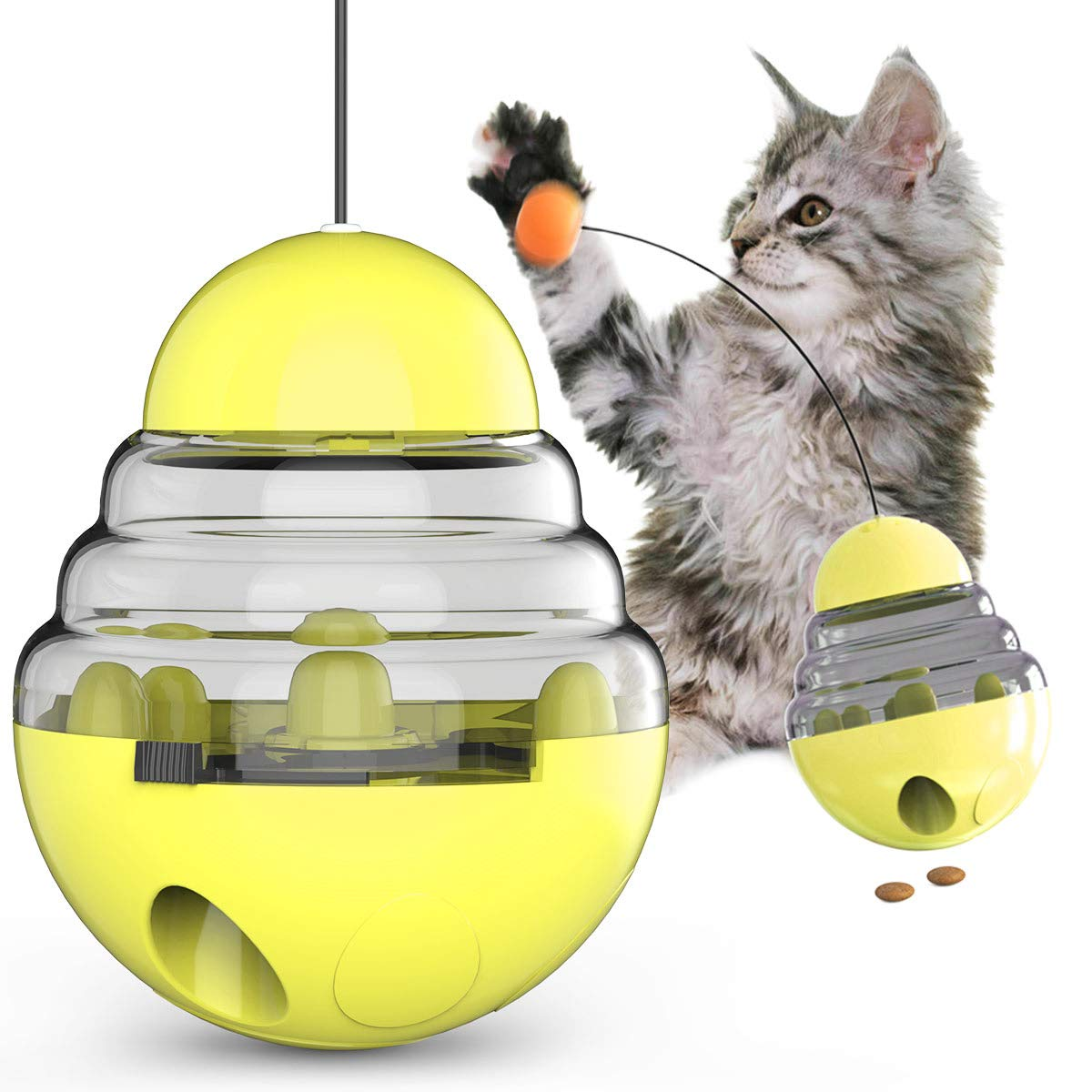 Cat Tumbler Toys Kitten Toy Kitty Supplies Interactive Spinning Track Ball for