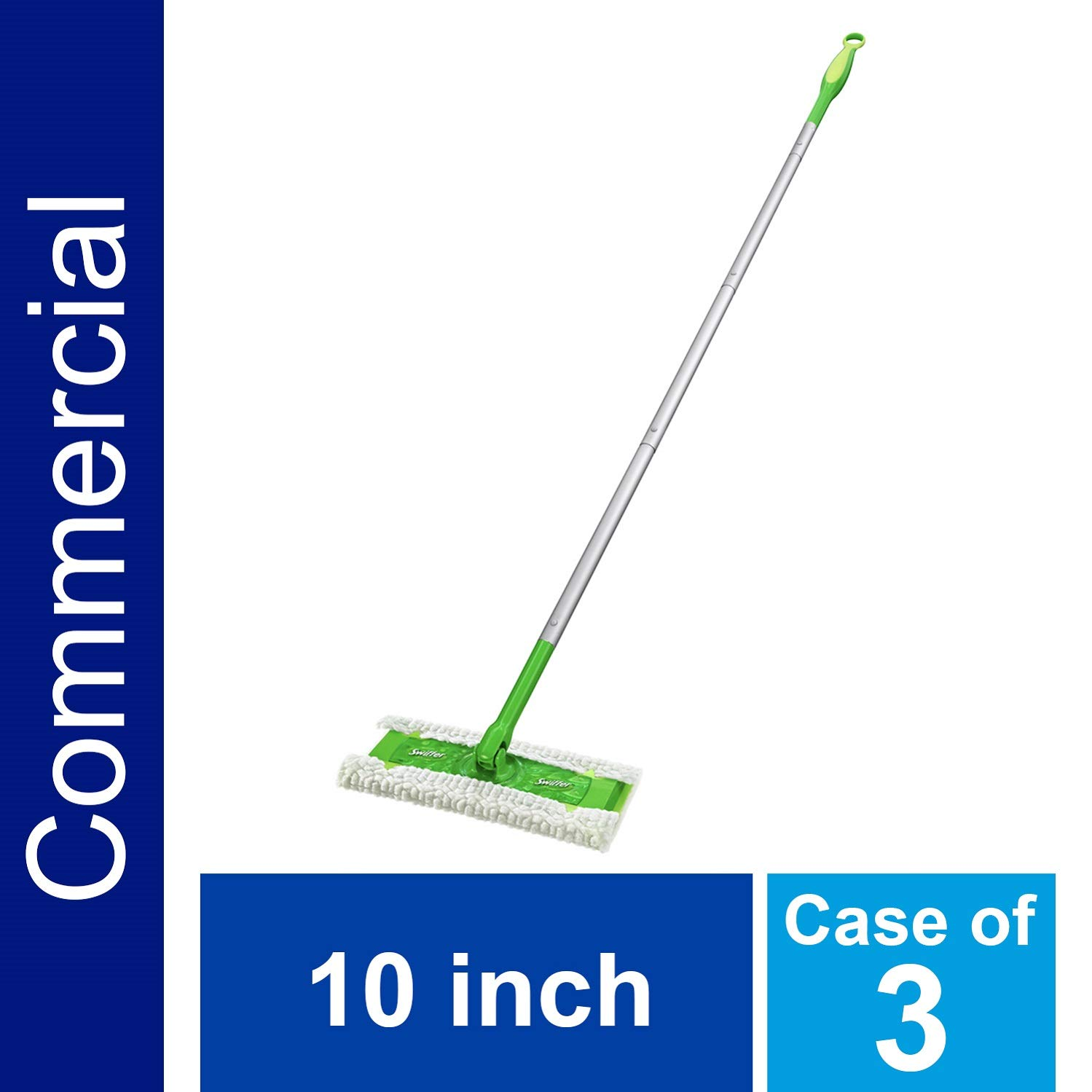Heavy Duty Sweeper Mop by Swiffer Professional, 10-inch Wide Duster, Ideal for Industrial or Commercial use on Hardwood, Tile or for Hand Dusting, (Pack of 3)