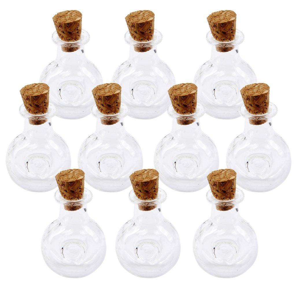 Hilai mini bottigliette in vetro con tappo in sughero, confezione da 10Xo Winebottle Shape