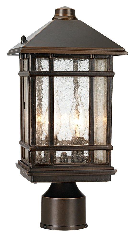 J du J Sierra Craftsman 14'' High Outdoor Post Mount Light
