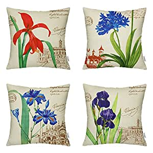 Amazon Com Hippih 4 Pack Pillow Covers Decorative Throw