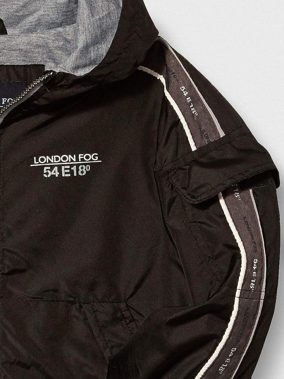 LONDON FOG Boys Chest Strip Poly Lined Jacket