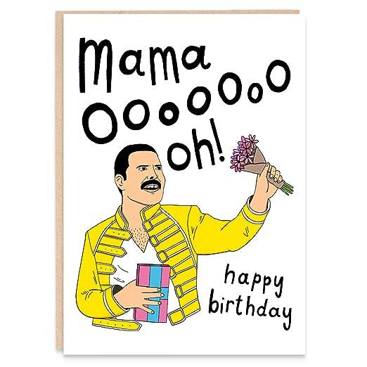 Tarjeta de felicitación de cumpleaños divertida con texto en ...