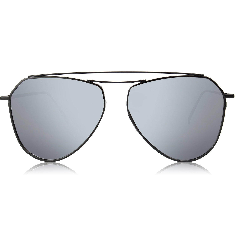 Men Sunglasses Shield Flat Mirrored Lenses Classic Memory