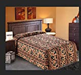 Quilted Bedspread Designed for Hotel/Motel-Resort-Air B&B & Home Over Sized 21'' Fall on Each Side 100% Polyester Fabric-Modern Print-Green-WaterFall Style (Full 96x118''-5.5 lbs PACK OF 5