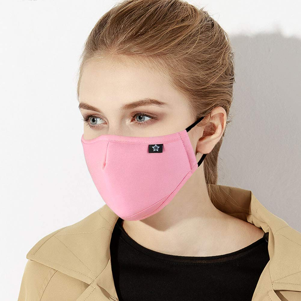 Washeable Reusable Mouth Mask Cotton Anti Dust Half Face Mouth Mask for Men Women Dustproof With Adjustable Ear Loops