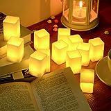 PChero キャンドルライト12個セット 揺らぐ炎 照明 電気ろうそく ヨガ クリスマス 結婚式 誕生日などに最適