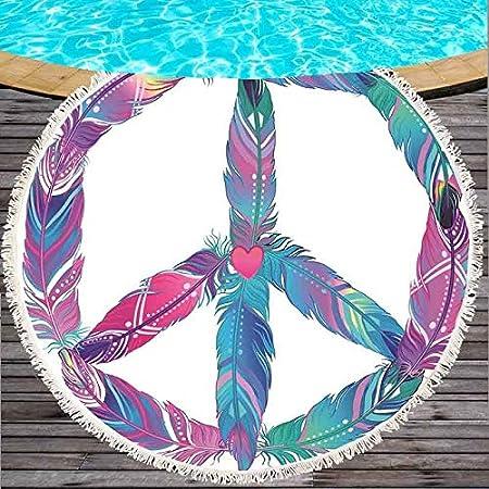 SATAJNN Toalla de Playa Estate Sandy Tassel Sun Bath Yoga ...