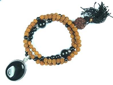 Collar de Mala Interior Mogul Coral Rudraksha Yoga Japamala ...