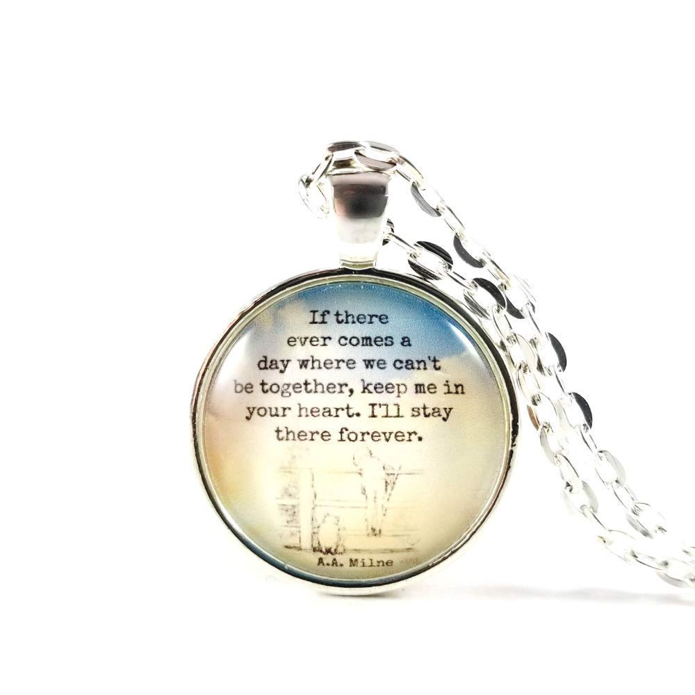 To My Sister Heart Necklace Winnie The Pooh