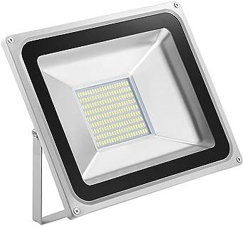 5X 100W Foco LED Proyector de Luz Lámpara IP65 Impermeable Iluminación Exterior del Jardín al Aire Libre, Patio, Terraza. Bajo Consumo de Energía y Alto Brillo Blanco frío 220V: Amazon.es: Iluminación